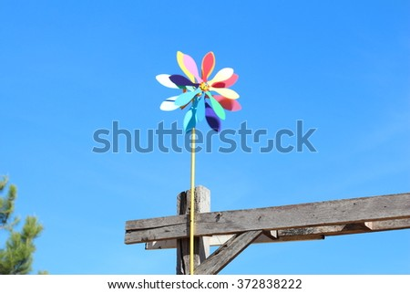 rotary wind vane  - stock photo