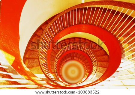 Rotate stair - stock photo