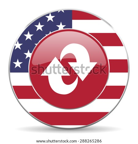 rotation american icon original modern design for web and mobile app on white background  - stock photo