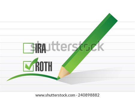 roth check list selection illustration design over a white background