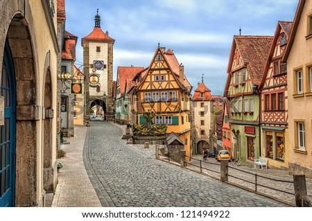 Rothenburg ob der Tauber, Germany - stock photo