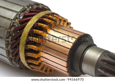 rotor close-up - stock photo