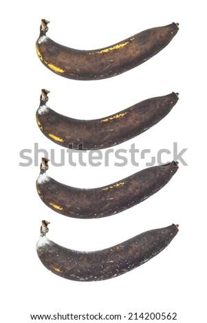 Rotten banana fruit  in a process - stock photo