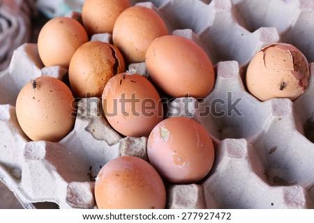 rotten eggs - stock photo