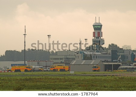 Rotterdam Airport in The Netherlands. - stock photo