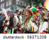ROTTERDAM, HOLLAND - JULY 31: Bolivian dancers at the parade of the annual Summer Carnival in Rotterdam on July 31, 2010 in Rotterdam, Holland - stock photo