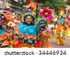 ROTTERDAM, HOLLAND - JULY 25: Dancers in the parade of the annual Summer Carnival in Rotterdam on July 25, 2009 in Rotterdam, Holland - stock photo