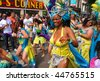 ROTTERDAM, HOLLAND - JULY 25: Participant in the parade of the annual Summer Carnival on July 25, 2009 in Rotterdam, Holland - stock photo