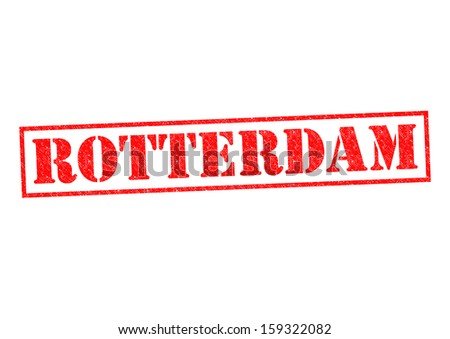 ROTTERDAM Rubber Stamp over a white background. - stock photo