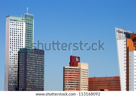 Rotterdam skyline - stock photo