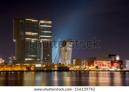 Rotterdam south, Kop van Zuid - stock photo