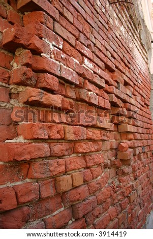 Rough bricks - stock photo