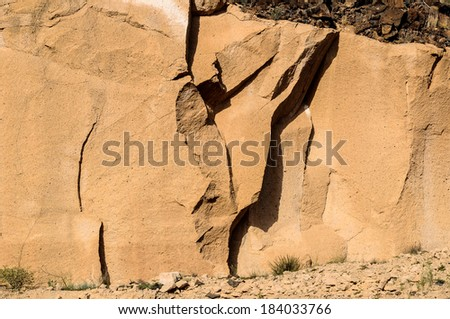Rough Brown Volcanic Tuff Rock Background Texture