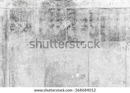 Rough gray concrete wall, background photo texture - stock photo