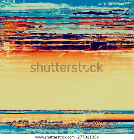 Rough grunge texture. With different color patterns: yellow (beige); blue; red (orange); cyan - stock photo