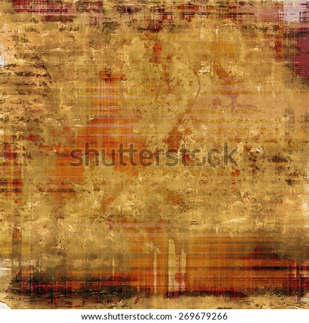 Rough grunge texture. With different color patterns: yellow (beige); red (orange); brown - stock photo