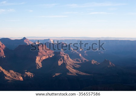 Rough landscape background from the Grand Canyon - stock photo