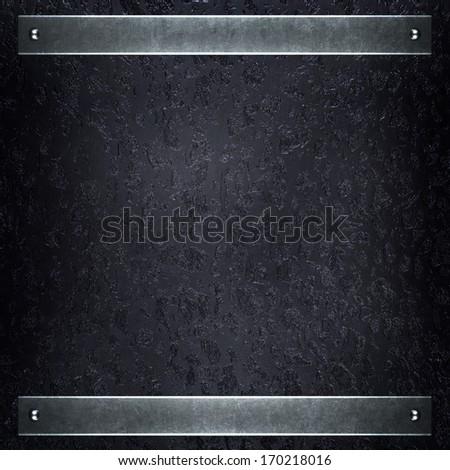 rough metal plate - stock photo