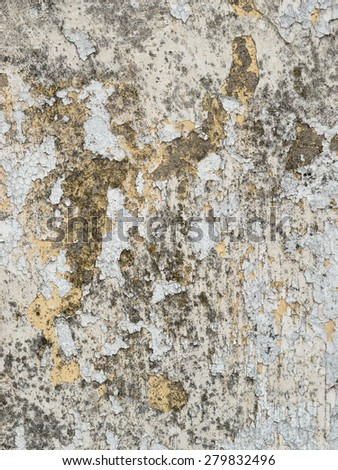 Rough moldy weathered peeling white paint texture. - stock photo
