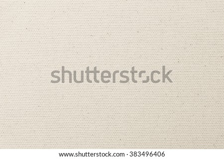 Rough muslin woven texture pattern background in light cream beige brown color tone: Eco friendly raw organic flax sack cloth fabric textile backdrop: Bag rope thread detailed textured burlap canvas - stock photo
