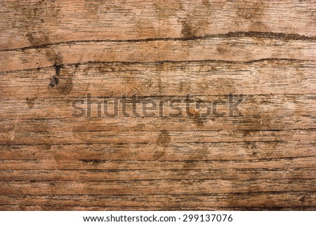 Rough old rustic wooden background with cracks. Grunge style. - stock photo