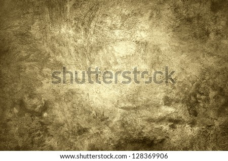 Rough old wall, vintage style in sepia. - stock photo