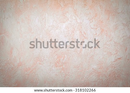 Rough plaster on the the old grange grungy neutral wall. Great textures for your - stock photo