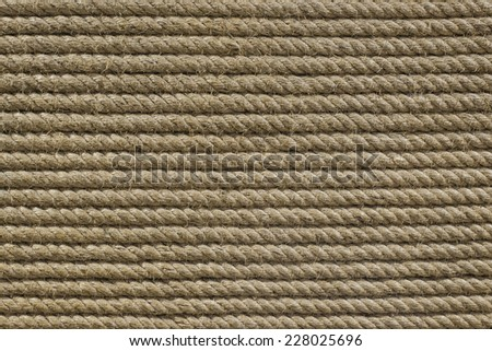 Rough rope background - stock photo