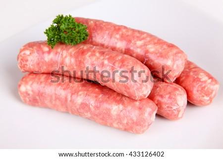 rough sausage - stock photo