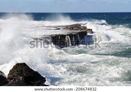 Rough Seas - stock photo