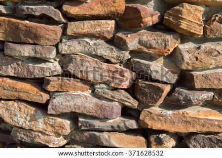 Rough stone wall background