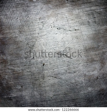 rough texture of scratched grunge metal plate; abstract background - stock photo