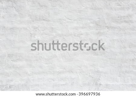 Rough white wall texture or background - stock photo
