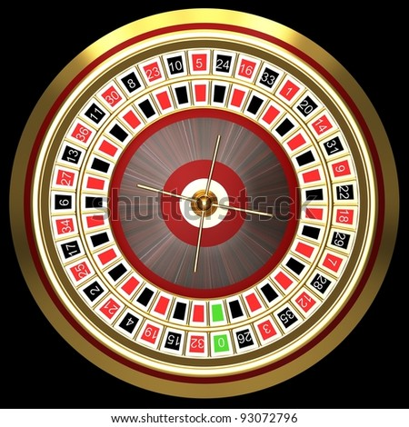 Roulette at the casino - stock photo
