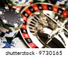 Roulette & Chips & Casino - stock photo