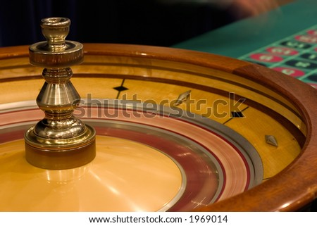 roulette close-up (casino) - stock photo