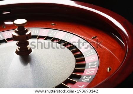Roulette in casino (casino series). studio shot - stock photo