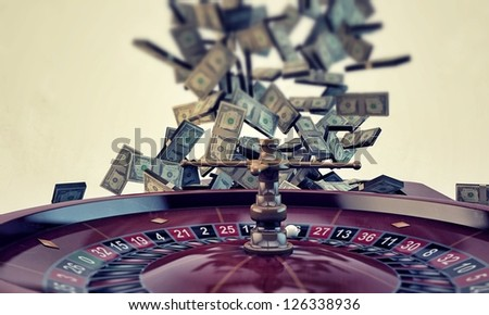 roulette isolated on white background - stock photo
