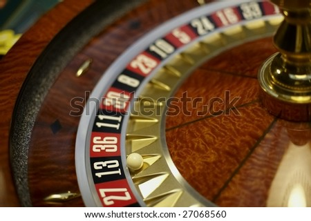 roulette table - stock photo