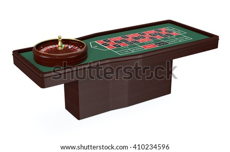 roulette table on white background (3d render) - stock photo