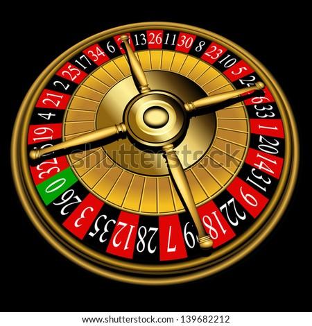 Roulette wheel, - stock photo