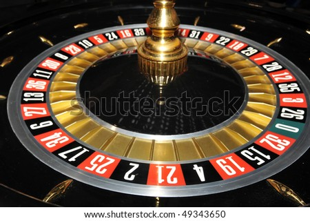Roulette wheel, close up image - stock photo