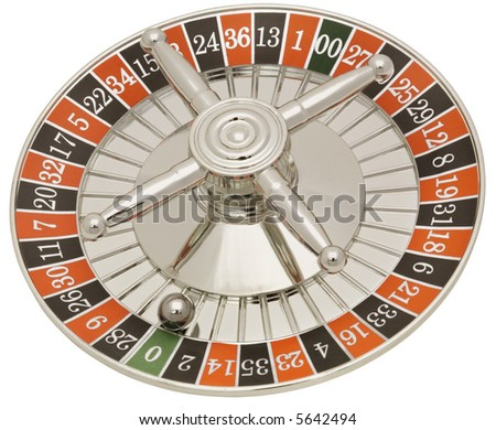 Roulette Wheel - isolated on white