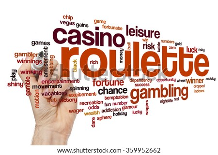 Roulette word cloud - stock photo