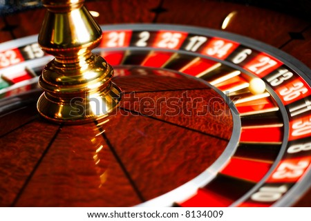 roulettes, casino, wheels, gambling, games - stock photo