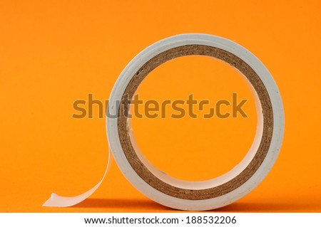 Round Adhesive Sticky New Insulation Tape Roll - stock photo