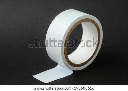 Round Adhesive Sticky New Insulation Tape Roll - stock photo