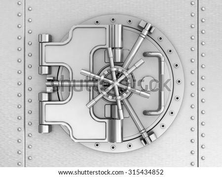 Round bank door - stock photo