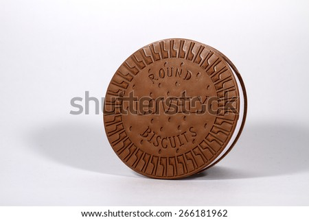 Round biscuit rubber print