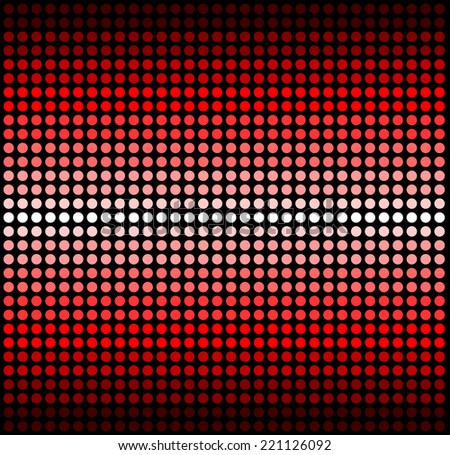 round blue shades on solid red background